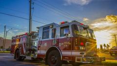 В Центре Санкт-Петербурга пожарные провели ночные учения