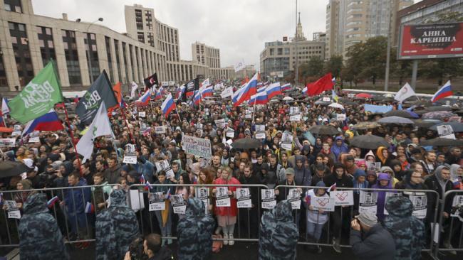 МИД Китая назвал протесты в Москве попыткой вмешательства Запада