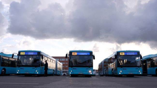 Пассажиравтотранс вывел на маршруты новые двухсекционные автобусы