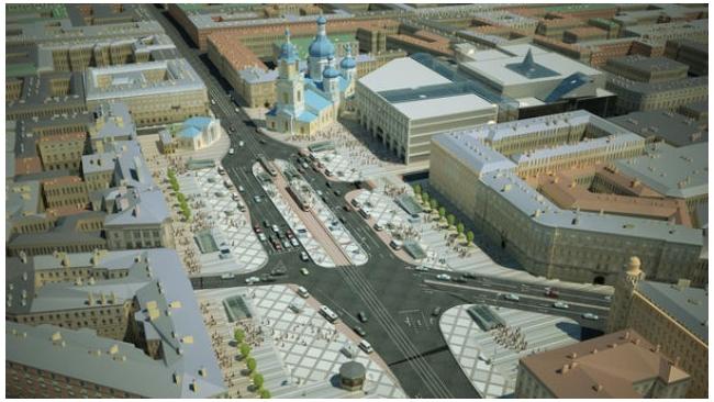 Смольный выделит на реконструкцию Сенной площади 1,3 млрд рублей