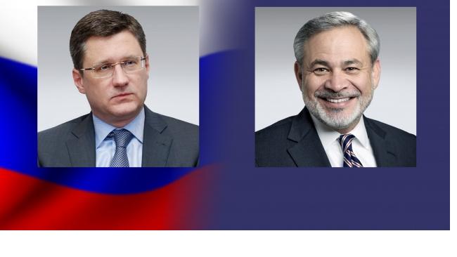 Главы министерств энергетики РФ и США обсудили состояние на мировом рынке нефти
