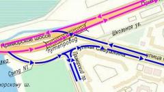 Путепровод на Приморском шоссе открыт для транспорта: схема движения