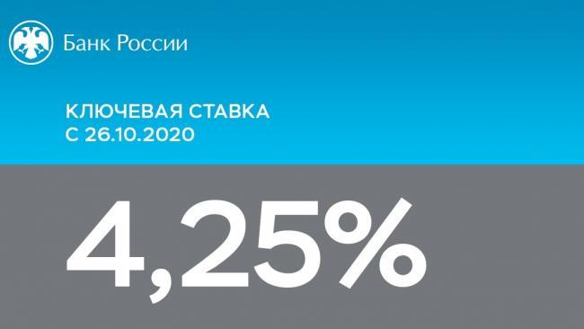 ЦБ РФ сохранил ключевую ставку на прежнем уровне – 4,25%