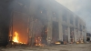 Пожар на территории трамвайного завода на Чугунной ...