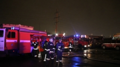 Пожар в цеху Кировского завода тушили по повышенному уровню сложности