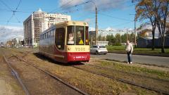 Трамвайные пути на участках Ириновского и Солидарности отремонтируют до середины ноября