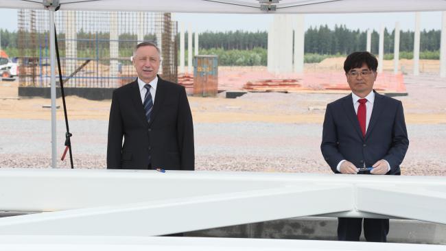Hyundai Motor начала в Петербурге строительство завода двигателей