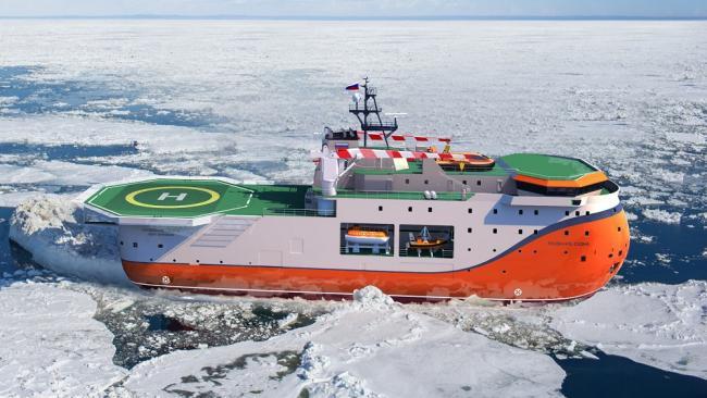 """Адмиралтейские верфи спустят на воду уникальную платформу """"Северный полюс"""" для Арктики"""
