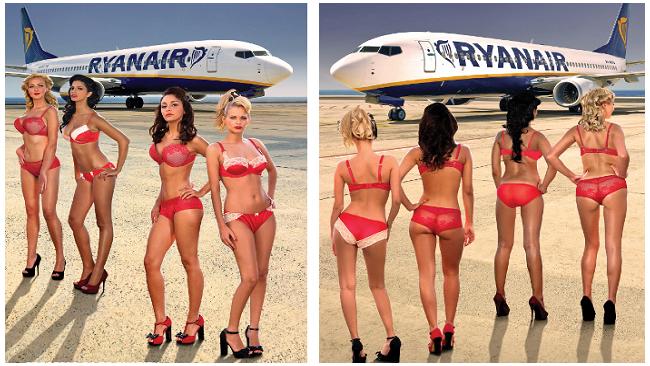 Ryanair переодела стюардесс в нижнее белье