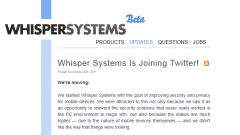 Twitter купил компанию по кибербезопасности Whisper Systems