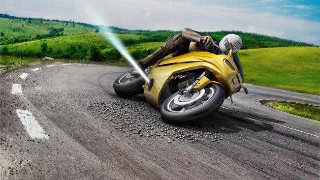 """Компания Bosch разрабатывает """"реактивную подушку безопасности"""" для мотоциклов"""