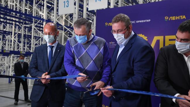 """""""Лента"""" открыла в Тосненском районе распредцентр, создано 640 рабочих мест"""
