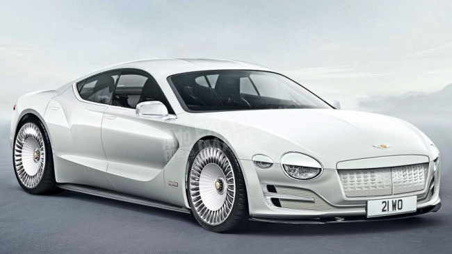 Bentley сделает экектрокар-купе по модели Porsche E