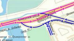 На Приморском шоссе открывают виадук, схема движения меняется
