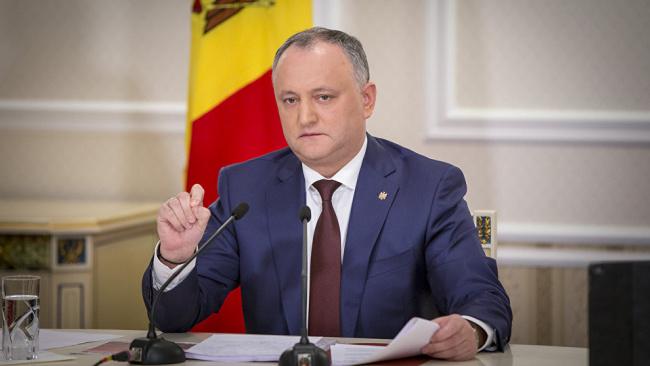 Президент Молдавии надеется на переговоры с Путиным по транзиту газа