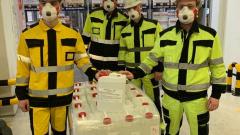 Предприятие «Йотун Пэйнтс» безвозмездно передаст 650 литров антисептика  в больницы Ленобласти