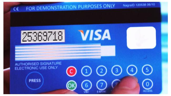 Карта Visa обзаведется ЖК дисплеем