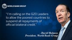Всемирный банк может предоставить до 160 млрд долларов в рамках финподдержки на фоне COVID-19