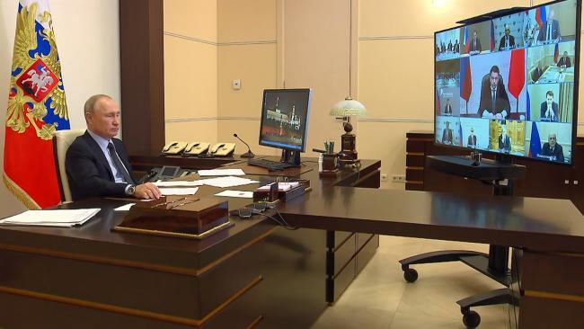 Путин провел онлайн-заседание Совета по стратегическому развитию и нацпроектам