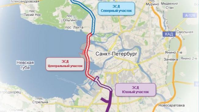 Северный участок ЗСД откроют в начале 2013 года, проезд по нему будет дороже
