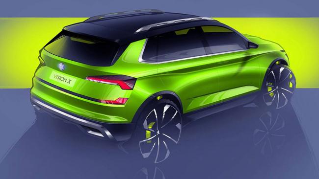 Skoda презентовала новый городской кроссовер с электрическим и газовым двигателями
