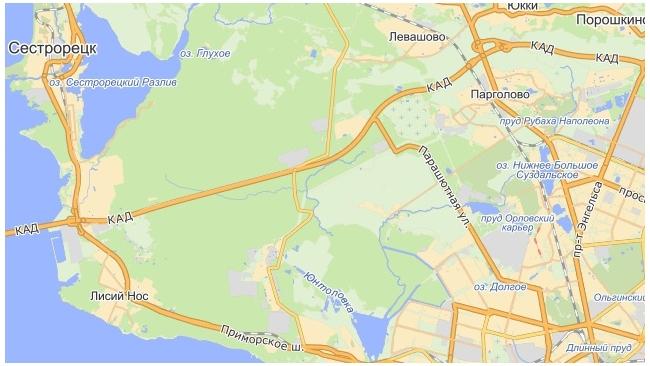 КАД от Горской до Приозерского шоссе расширят до шести полос за 151 млн рублей