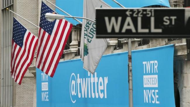 Акции Twitter в первые минуты торгов взлетели на 73%