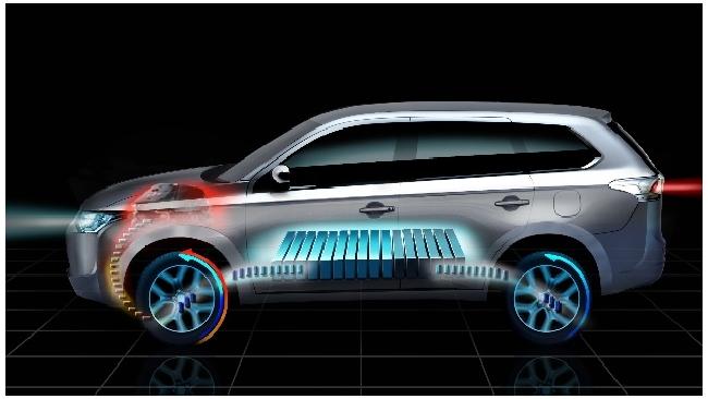 Mitsubishi покажет первый в мире полноприводный электрокар с увеличенным запасом хода