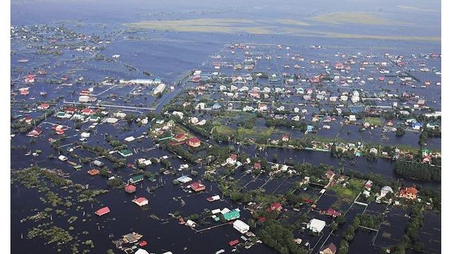 Ущерб от наводнения на Дальнем Востоке достиг 527 млрд руб