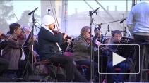 Музыка Равеля и Бетховена звучала над водами Белого озера в Гатчине