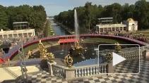 Праздник фонтанов в Петергофе, юбилейный вечер памяти ...