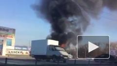 В Уфе автобус сгорел дотла