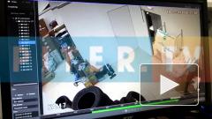 Видео: в петербургском автосалоне взорвались баллоны с белым веществом