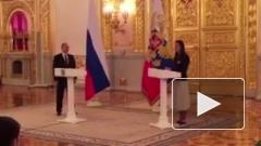 Исинбаева расплакалась на приеме у Путина