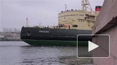 """Ледокол """"Красин"""" вернулся в Петербург после ремонта"""