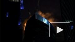"""Пожар в башне """"Восток"""" делового комплекса """"Федерация"""" вызвал баннер"""