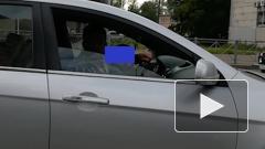 По Петербургу ездил агрессивный водитель с малышом на коленях