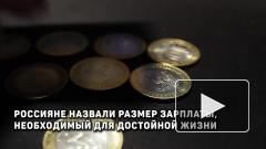 Россияне назвали размер зарплаты, необходимый для достойной жизни