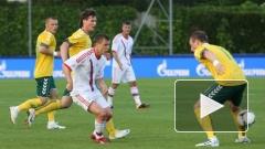 Сборная России по футболу сыграла в товарищеском матче вничью с Литвой 0:0