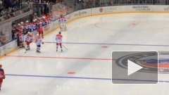 Владимир Путин вышел на лёд в гала-матче турнира НХЛ в Сочи
