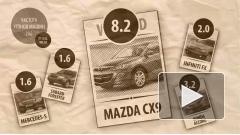 Угонщикам Москвы в 2011 году больше всего полюбился кроссовер Mazda СХ9