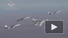 Минобороны показало полеты Су-57 на предельных режимах
