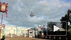 Шесть VIP-персон посадили свой вертолет прямо у Екатерининского дворца в Пушкине