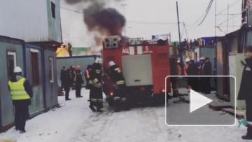 Недостроенный стадион к ЧМ-2018 горит в Нижнем Новгороде
