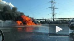 ДТП: в Петербурге на КАД загорелся автомобиль