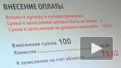 В Петербурге платежные терминалы берут 29,98% комиссии за операцию