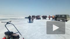 Нива в Новосибирской области провалилась под лед
