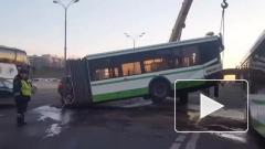 Автобус на МКАД разорвало на две части
