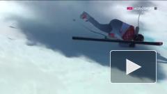 Запнулся на Олимпиаде: горнолыжник Трихачев не справился с поворотом и упал на скоростном спуске