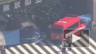 Автобус сбил толпу пешеходов в Японии